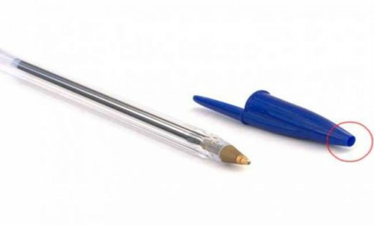 Γνώριζες γιατί το καπάκι του στυλό έχει τρύπα μπροστά; Η λεπτομέρεια που σώζει ζωές
