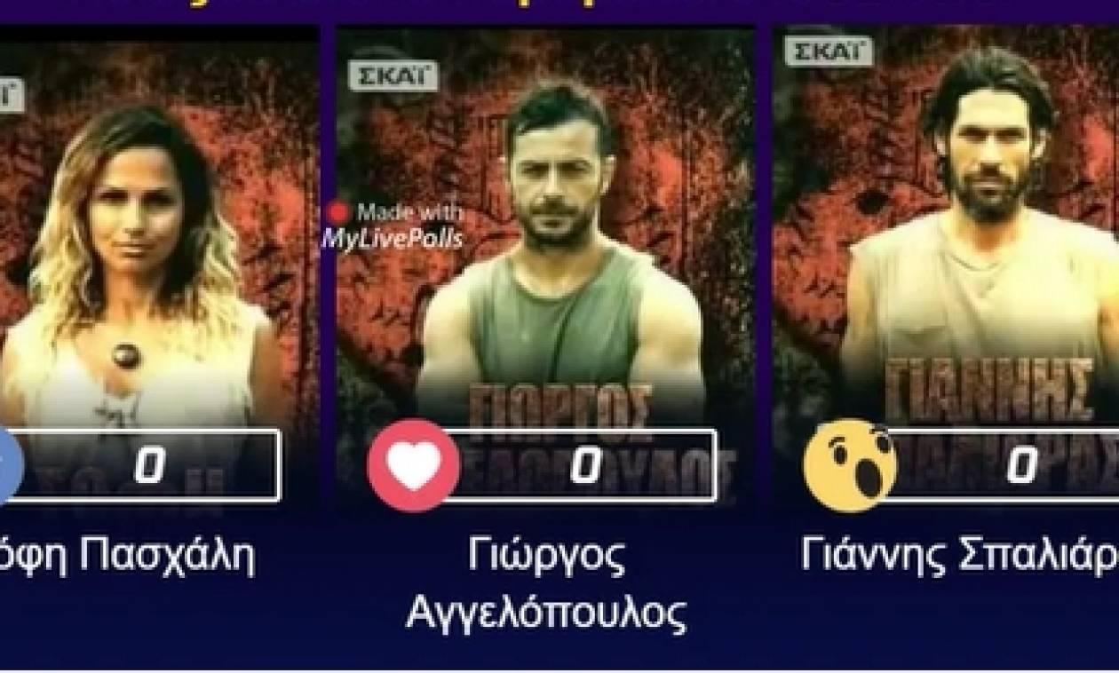 Ψηφοφορία Survivor: Ποιον διώχνει μέσω των Live Polls στο Facebook το κοινό; (Photo)