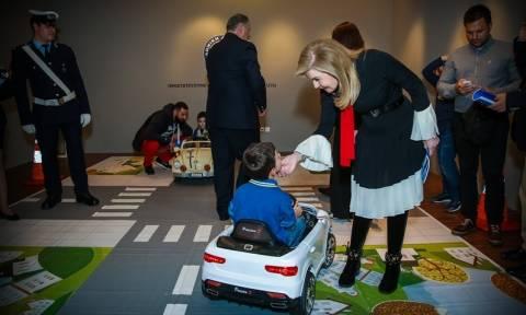 Έκθεση παιδικής ζωγραφικής για την οδική ασφάλεια