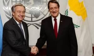 Ολοκληρώθηκε η συνάντηση Αναστασιάδη Γκουτιέρες - Ικανοποίηση από τον Πρόεδρο