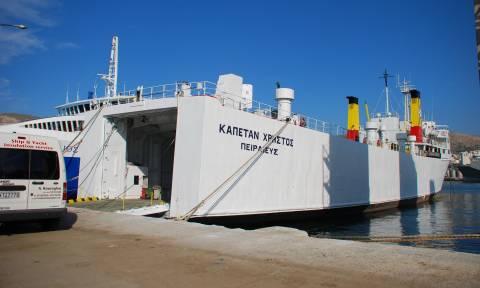 Πρόσκρουση φορτηγού πλοίου στο λιμάνι της Μύρινας στη Λήμνο