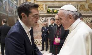 Pope Francis thanks PM Tsipras for his work to support the 'poor and weak'