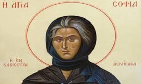 Το Ιερό Λείψανο της Οσίας Σοφίας της Κλεισούρας από σήμερα (26/3) στο Βόλο