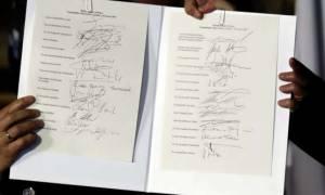 Οι 27 υπέγραψαν τη Διακήρυξη της Ρώμης με την ίδια πένα που χρησιμοποιήθηκε για τη γέννηση της