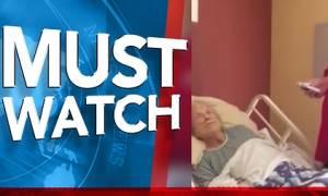 Εβαλε κρυφή κάμερα στο δωμάτιο της μητέρας του στο γηροκομείο. Αυτό που έκανε ο νοσοκόμος... (video)
