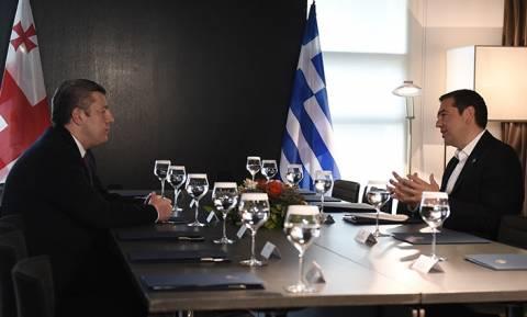 Συνάντηση Τσίπρα με τον πρωθυπουργό της Γεωργίας