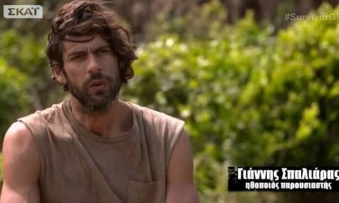 Survivor: Ο Σπαλιάρας... μούσκεμα και τα παράπονα για το κρεβάτι του (video)