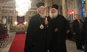 Παρασκήνιο από τη συγκινητική συνάντηση Οικουμενικού Πατριάρχη - Γέροντα Εφραίμ στο Φανάρι (pics)