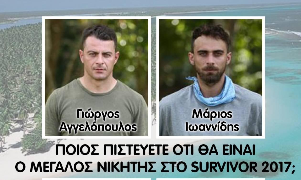 Live ψηφοφορία: Τρελό ντέρμπι για τον νικητή του Survivor ανάμεσα σε... (video)