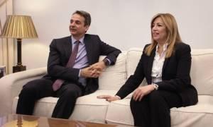 Κοινή διαπίστωση Mητσοτάκη - Γεννηματά: Η κυβέρνηση να φύγει το συντομότερο