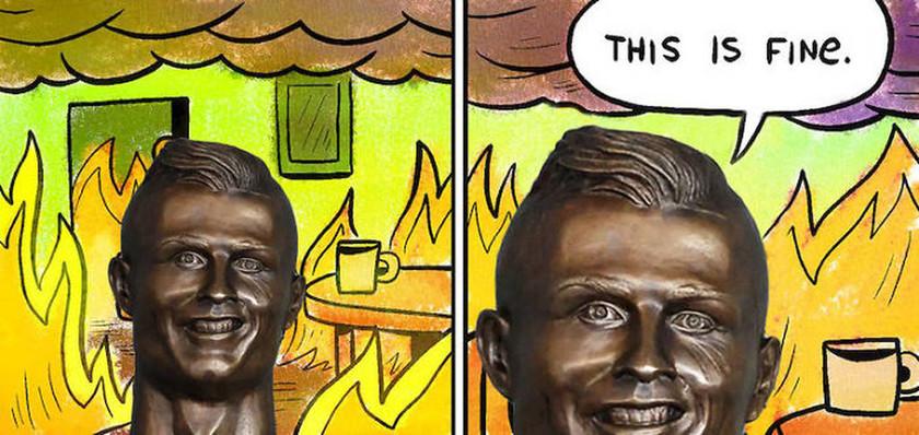 Viral: Το διαδίκτυο τρολλάρει τη νέα προτομή του Ρονάλντο και όχι αδίκως (Pics)