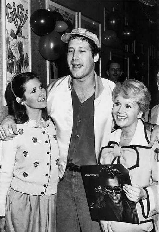 Carrie Fisher, Chevy Chase and Debbie Reynolds