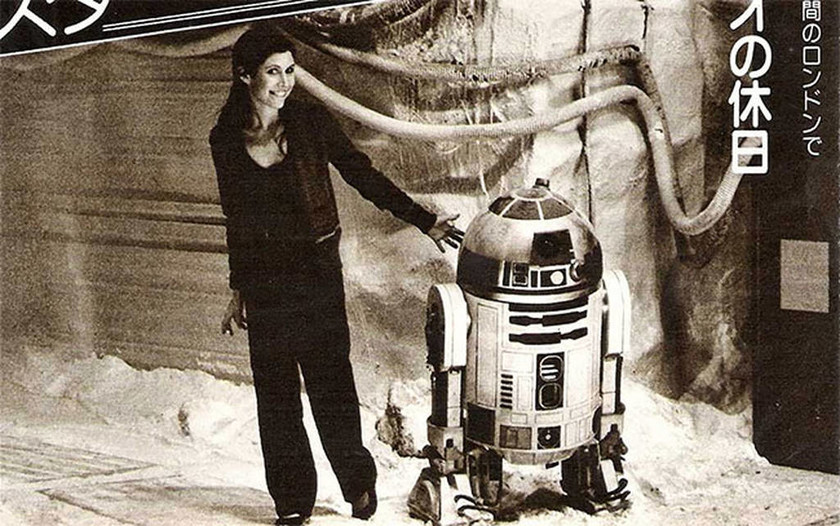 Carrie Fisher -  R2-D2