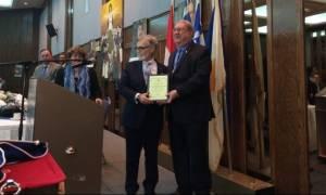 Η ομογένεια του Μόντρεαλ ανακήρυξε «Ελληνα της Χρονιάς» τον Τάσο Ξυπολιτάκη