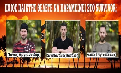 Live ψηφοφορία: Ποιος θέλετε να παραμείνει στο Survivor; (video)