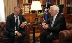 Ηχηρό μήνυμα Παυλόπουλου σε Τουσκ: Οι Έλληνες δεν διανοούμεθα την πορεία μας στο μέλλον εκτός ΕΕ