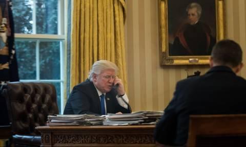 Τηλεφωνική επικοινωνία Τραμπ με Μέρκελ και Σίνζο Άμπε