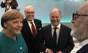 Γερμανία: Θερμό καλωσόρισμα Μέρκελ στον Κουρουμπλή