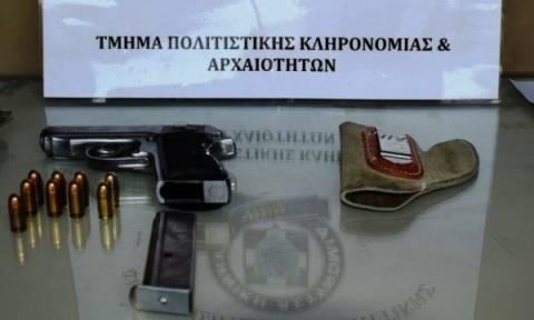 Στα χέρια της αστυνομίας τρία άτομα που κατηγορούνται για αρχαιοκαπηλία και οπλοκατοχή (pics)
