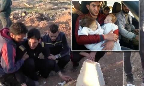 Γροθιά στο στομάχι: Το σπαρακτικό αντίο Σύρου πατέρα στα δίδυμα παιδιά του - Σκληρές εικόνες (vid)