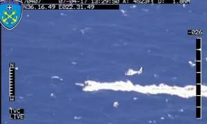 Καταδίωξη στο Αιγαίο: Ελικόπτερο του Λιμενικού κυνηγά ταχύπλοο που μεταφέρει ναρκωτικά