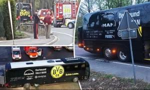 ΣΟΚ στη Γερμανία: Εκρήξεις δίπλα στο πούλμαν της Ντόρτμουντ - Αναβλήθηκε ο αγώνας με τη Μονακό