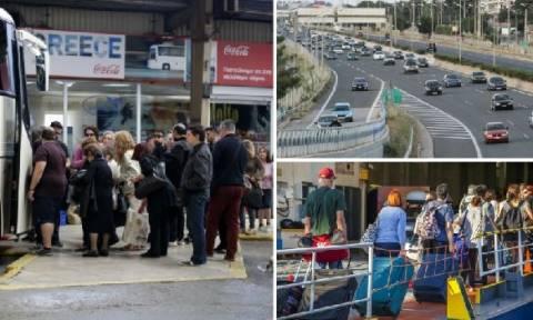 Εγκαταλείπουν την πρωτεύουσα οι Αθηναίοι – Χαμός σε λιμάνια, ΚΤΕΛ, αεροδρόμιο και εθνικές οδούς