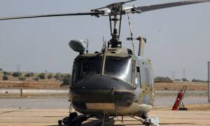 UH-1H military helicopter located at Elassona