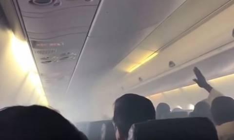 Πανικός στον αέρα για 53 επιβάτες (video)
