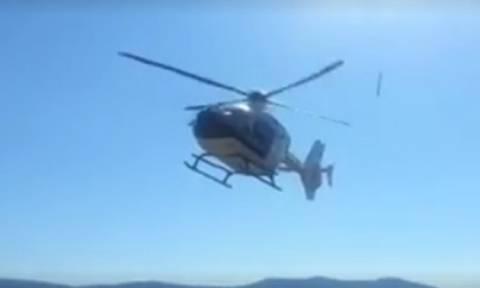 Βίντεο: Η απογείωση της Ρούπα με το ελικόπτερο που θα έβγαζε το Μαζιώτη από τον Κορυδαλλό