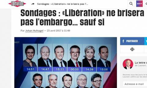 Εκλογές Γαλλία 2017: Βολές από τη Liberation για τη διαρροή αποτελεσμάτων