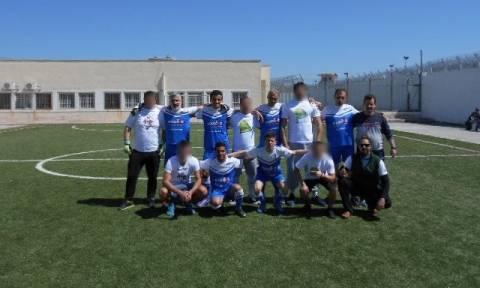 Ένας διαφορετικός ποδοσφαιρικός αγώνας στις φυλακές Δομοκού