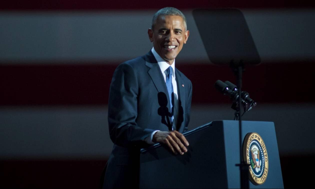 Η πρώτη δημόσια ομιλία Ομπάμα μετά την αποχώρησή του από το Λευκό Οίκο: «Έγινε τίποτα όσο έλειπα;»
