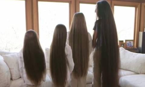 Οικογένεια Ραπουνζέλ  Μάνα και τρεις κόρες έχουν μαζί τα πιο... μακριά  μαλλιά 0025d088753