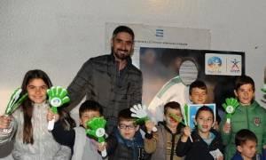 Παρουσία - έκπληξη του Νίκου Λυμπερόπουλου στην παιδική Κερκίδα ΟΠΑΠ (pics)