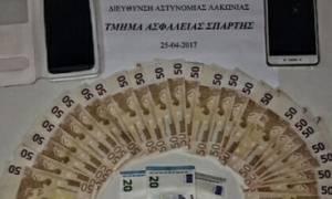Συνελήφθησαν στη Σπάρτη δύο νεαρές που διακινούσαν πλαστά χαρτονομίσματα