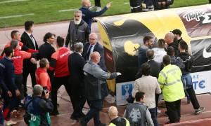 AEK-Ολυμπιακός 0-1: Πανικός και ένταση με Θεοδωρίδη-Δημητριάδη στη μικτή ζώνη! (video)