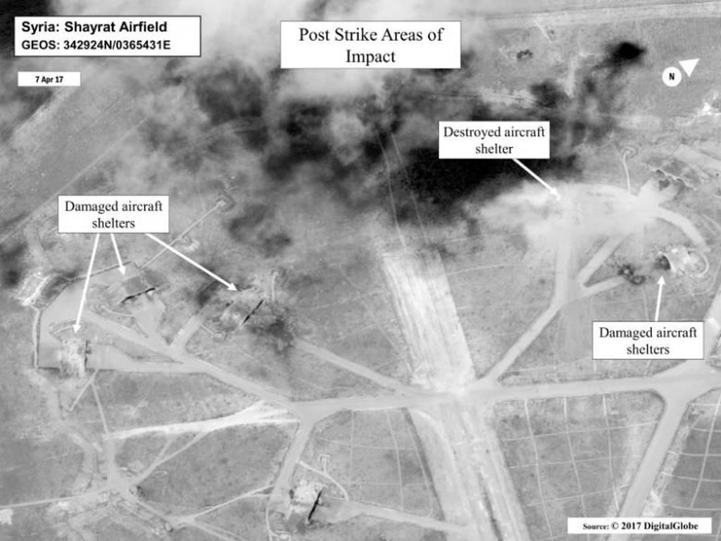 Ρωσία: Τα αμερικανικά πυραυλικά πλήγματα στη Συρία απείλησαν άμεσα τις ρωσικές δυνάμεις (pic)