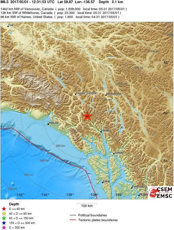 Ισχυρός σεισμός 6,5 Ρίχτερ στην Αλάσκα