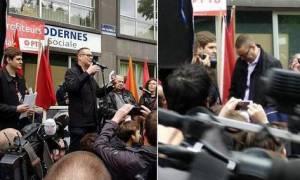 Βίντεο-Σοκ: Μαχαίρωσαν δημοφιλή Βέλγο πολιτικό καθώς εκφωνούσε λόγο για την εργατική Πρωτομαγιά