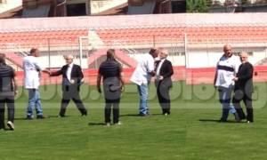 ΠΑΟΚ - ΑΕΚ: Ο Ιβάν Σαββίδης προσγειώθηκε με ελικόπτερο στο κέντρο του γηπέδου (video)