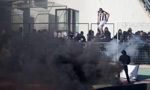 ΠΑΟΚ-ΑΕΚ: Δείτε το σοκαριστικό βίντεο με την πυρκαγιά στο Πανθεσσαλικό!