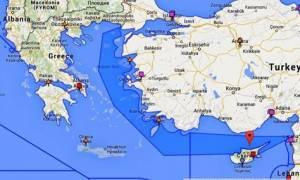 Χάρτες – πρόκληση από την Τουρκία: «Δικό μας το μισό Αιγαίο»