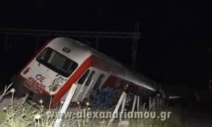 Εκτροχιασμός τρένου στη Θεσσαλονίκη: Οι πρώτες εικόνες από το σημείο του ατυχήματος (pics&vid)
