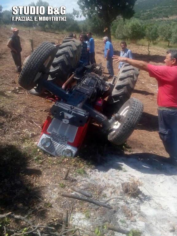 Αργολίδα: Νεκρός αγρότης που καταπλακώθηκε από τρακτέρ (pics)