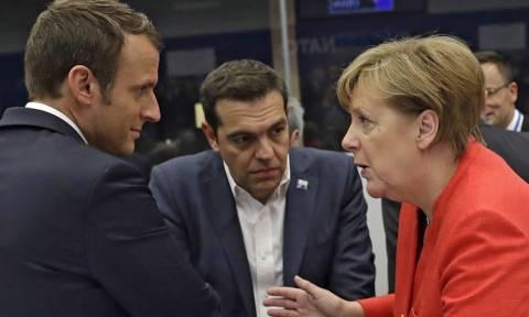 Τσίπρας, Μέρκελ και Μακρόν συζήτησαν για την απομείωση του χρέους και το Eurogroup του Ιουνίου