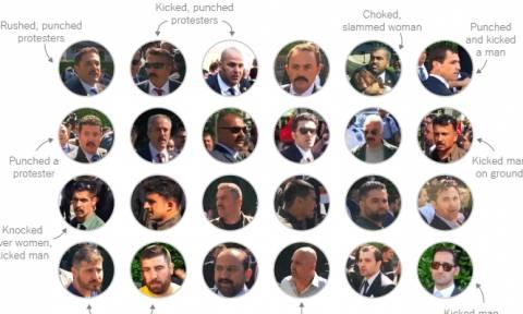 Δεν «παίζουν» οι Αμερικανοί: «Φακέλωσαν» έναν προς έναν τους μπράβους του Ερντογάν