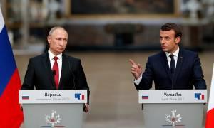Μακρόν προς Πούτιν: Άμεσα αντίποινα για τα χημικά στη Συρία