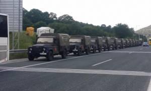 «Μπλόκο» σε αλβανική ΝΑΤΟϊκή αυτοκινητοπομπή από το ΚΚΕ