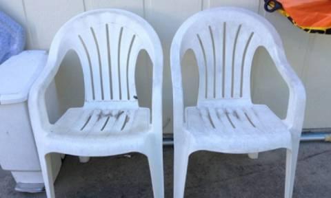 Πήρε καρέκλες και τους έκοψε τα πόδια – Το αποτέλεσμα θα το ζηλέψετε (photos)